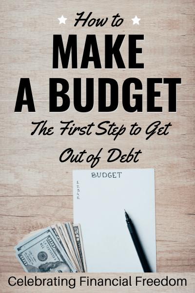 How Do You Get Out of Debt? (Part 2)- Make a Budget