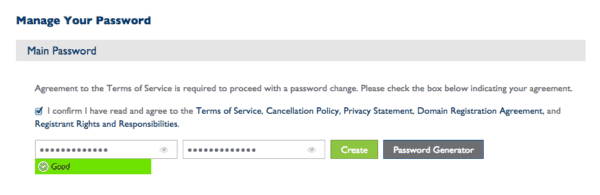 bluehost create password   bluehost terms of service  