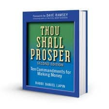 thou shall prosper ten commandments for making money rabbi daniel lapin