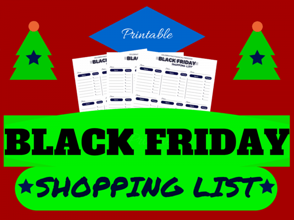 Free Black Friday Printable Shopping List