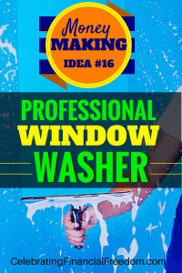 Money Making Idea #16- Professional Window Washer
