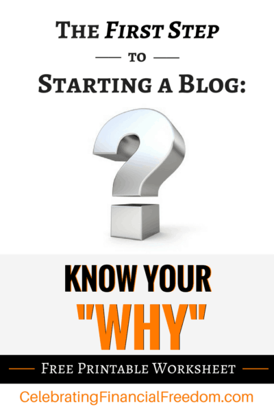 The First Step to Starting a Blog- Know Your Why