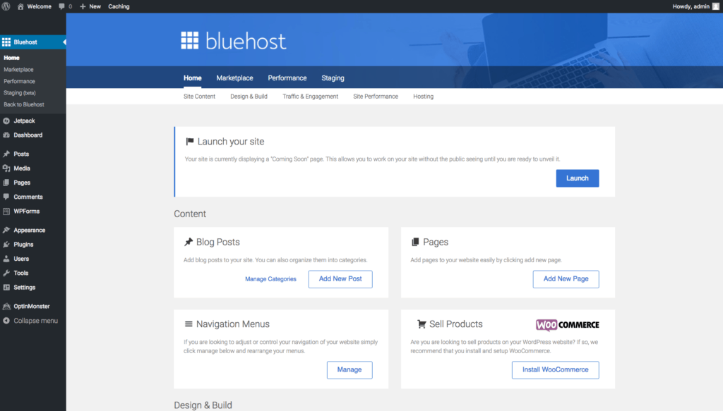 Bluehost Tools for your WordPress Blog