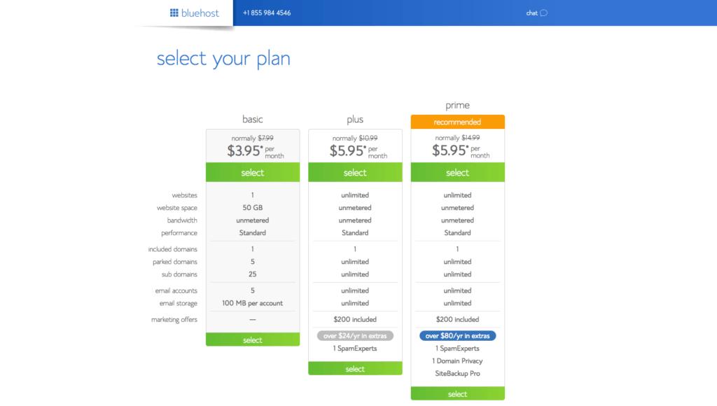Select Hosting Plan